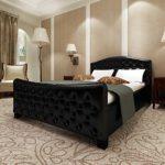 Festnight Polsterbett Bett Doppelbett Ehebett ohne Matratze 140x200 cm Kunstleder Schwarz
