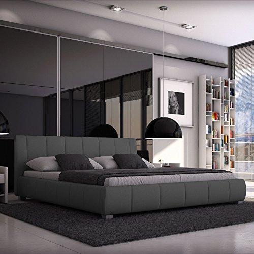 luna polsterbett 140x200 cm doppelbett bett. Black Bedroom Furniture Sets. Home Design Ideas