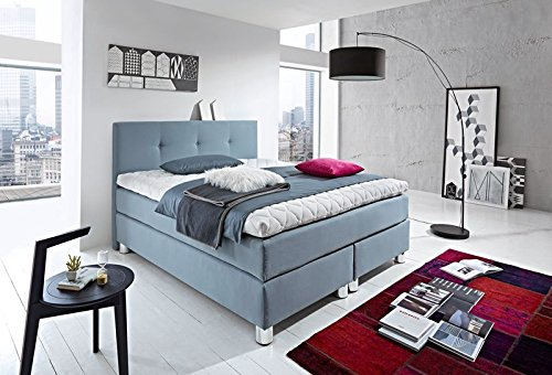luxus boxspringbett rockstar 9cm topper welcon 180x200 64 farben h rtegrad 1 2 3 4 5 rechts und. Black Bedroom Furniture Sets. Home Design Ideas