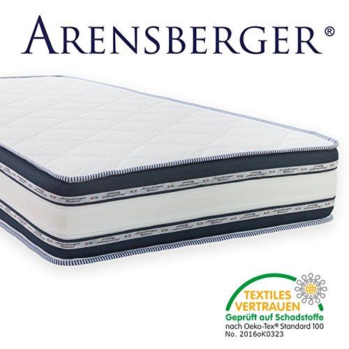 Arensberger Relaxx 9 Zonen Wellness Matratze mit 3D-Memory Foam, Höhe 25cm, Raumgewicht 50 kg/m³, drei Schichten: Kaltschaum + Visco Smart Schaum + Gel Schaum