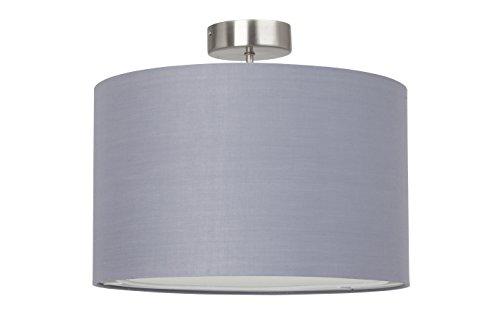 Brilliant Clarie Deckenleuchte 1-flammig, E27, 1 x 60 W, metall / textil, eisen / grau 13291/22