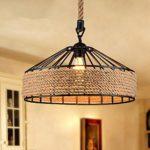 COLLECTOR Retro Vintage hängende Lampe industrielle Anhänger Deckenbeleuchtung für Küche,Wohnzimmer,Schlafzimmer,Cafe,Restaurant,Esszimmer Dekoration 380 mm)(
