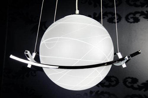 Design Hängelampe Pendelleuchte Globo Opalglas Kugellampe weiß