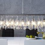 DuNord Design Hängelampe Hängeleuchte Diamonds 9-Flammig - Glaskristall 120cm