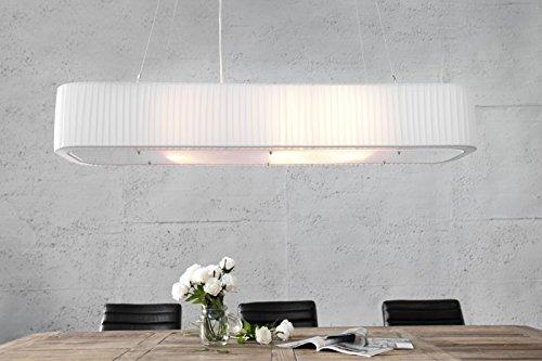 DuNord Design Hängelampe Hängeleuchte MILANO weiss 100 cm