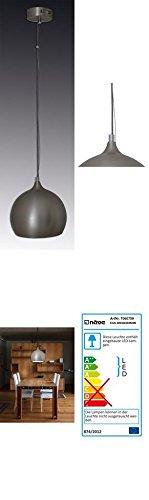 DuNord Design Hängelampe Hängeleuchte RETRO BALL anthrazit LED