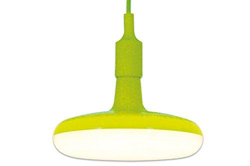 DuNord Design Hängelampe LED Küchenlampe ROSWELL grün 22cm Retro Pendellampe Design Lampe