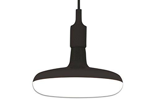 DuNord Design Hängelampe LED Küchenlampe ROSWELL schwarz 22cm Retro Pendellampe Design Lampe