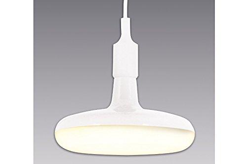 DuNord Design Hängelampe LED Küchenlampe ROSWELL weiß 22cm Retro Pendellampe Design Lampe