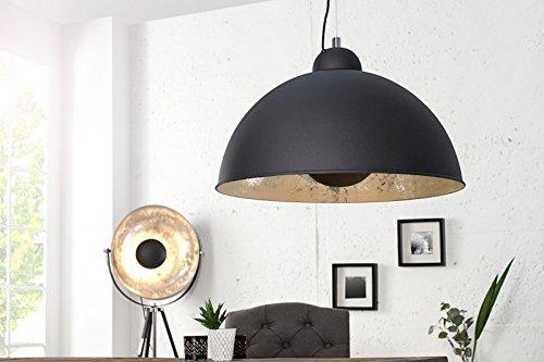 DuNord Design Hängelampe Pendellampe CINEMA schwarz silber Retro Design Lampe Kugelleuchte