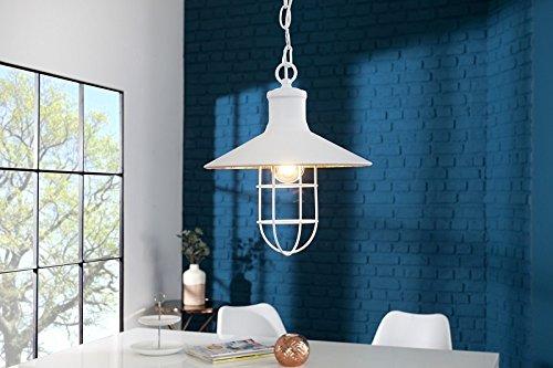 DuNord Design Hängelampe Pendellampe COAST Industrielampe weiss 30cm Industrie Design Lampe