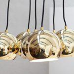 DuNord Design Hängelampe Pendellampe Kugellampe GOLDEN PEARLS XL gold Retro Space Age 70er