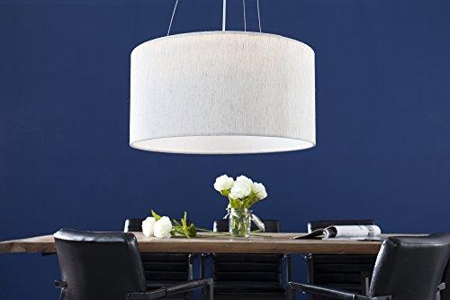 DuNord Design Hängelampe Pendellampe LINA 50cm beige Esstisch Design Leinenschirm Lampe