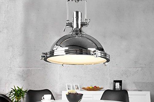 DuNord Design Hängeleuchte Hängelampe FABRIQUE chrome 45 cm Industriedesign