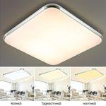 ETiME Ultraslim LED Deckenleuchte Deckenlampe Modern Wohnzimmer Lampe Schlafzimmer Küche Panel Leuchte Silber [Energieklasse A++]