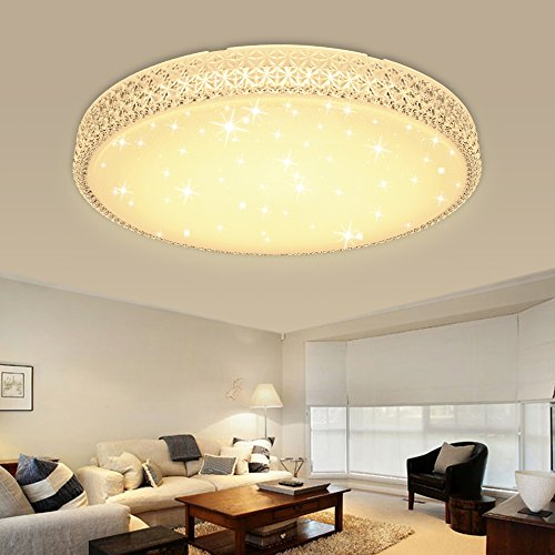 HG® LED Deckenleuchte Wandlampe Deckenlampe Kristall Deckenbeleuchtung rund Lampe Wohnzimmer Flurleuchte Schlafzimmer Badlampe Wand-Deckenleuchte Starlight Effekt schön Decken Energiespar Dekor Spannung 176V-264V