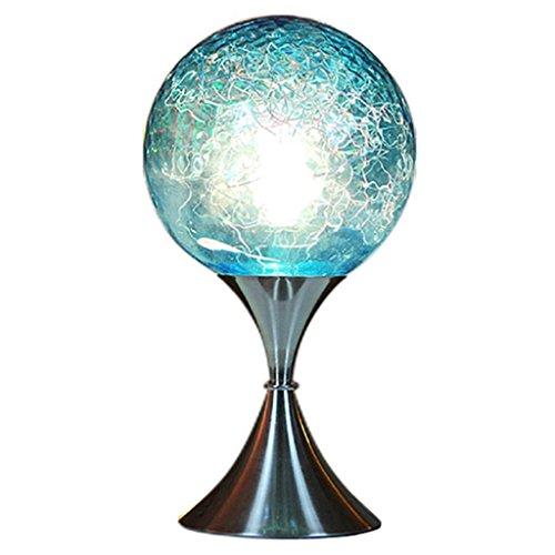 Health UK table lamp- Einstellbare Romantische Blaue Planeten Warme Dimmen Glas Tischlampe Hochzeit Zimmer Dekoriert Schlafzimmer Nacht Ornamente Moderne E27 LED Schreibtisch Licht welcome