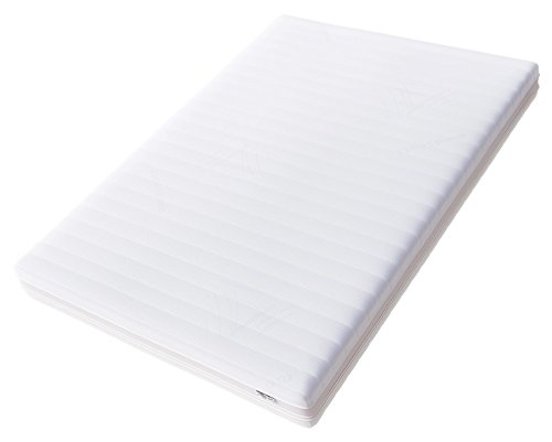 Hilding Sweden Essentials Memoryschaum Matratze in Weiß / Mittelfeste Matratze aus thermoelastischem Visko-Komfortschaum für alle Schlaftypen (H2-H3)