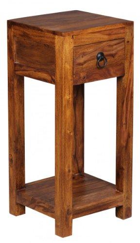 Konsole bzw. Beistelltisch mit Schublade in Sheesham Massivholz; Maße (B/T/H) in cm: 30 x 30 x 68
