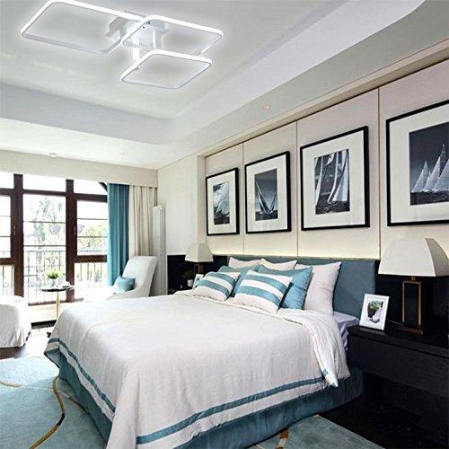 Lonfenner LED Deckenleuchte post-modernen, minimalistischen Wohnzimmer Schlafzimmer Lampe rechteckige atmosphärischen Kunst kreative Persönlichkeit Leselampe