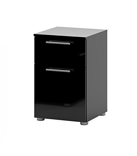 nachttisch infiniti nachtschrank nachtkonsole nachtkommode schwarz hochglanz. Black Bedroom Furniture Sets. Home Design Ideas