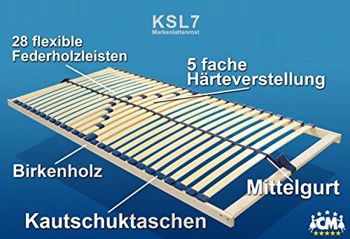 Original KSL7 Marken Lattenrost 90x200 cm. Lattenrahmen aus Birkenholz. Extra stabil und gleichzeitig flexibel, härteverstellbarer Lattenrost 90 x 200 cm. Hotel Qualität.