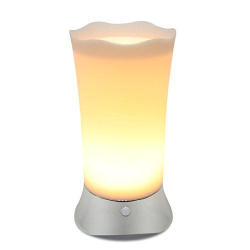 Signstek LED Bewegungsmelder Tischleuchte Nachtlicht LED-Tischlampe mit kabellosem PIR-Bewegungssensor