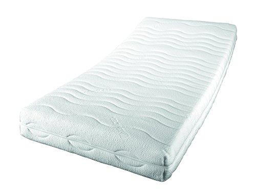 Sleepdream Premium KS 7-Zonen-Komfortschaum-Matratze, Polyester-Viskose, weiss