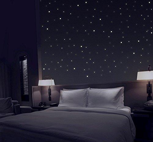 TALINU Sternenhimmel aus 277 Leuchtpunkten mit starker Leuchtkraft und langer Leuchtzeit | 2 Jahre Zufriedenheitsgarantie | Leuchtsterne, Leuchtaufkleber, fluoreszierende Wandsticker, Reflektor