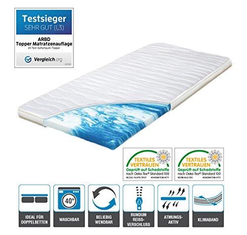 Topper von ARBD, Matratzenauflage, Kaltschaum 7cm oder 10cm, alle Größen - Schlafen wie auf Wolken H2 + H3 …