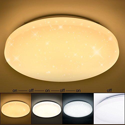 VINGO® LED Deckenleuchte Sternenhimmel Deckenlampe Wand-Deckenleuchte