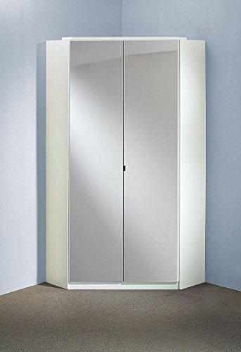 """Beauty.Scouts Eck-Kleiderschrank """"Boca rinco Mirror"""" Spiegelschrank, Hochglanz weiß, 120x120cm"""