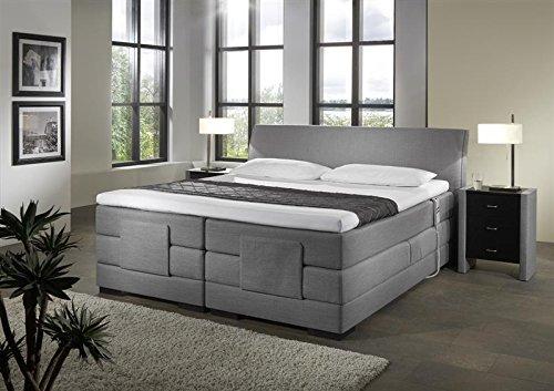 Breckle Boxspringbett 180 x 200 cm Napoli Box Stauraum 1000 TFK Big Topper Gel Premium Comfort