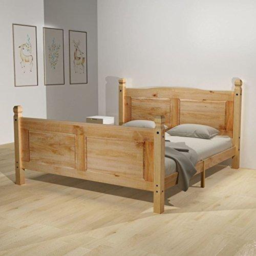 Festnight Holzbett Doppelbett Bett Bettgestell Gästebett aus Holz ohne Matratze 140 x 200 cm