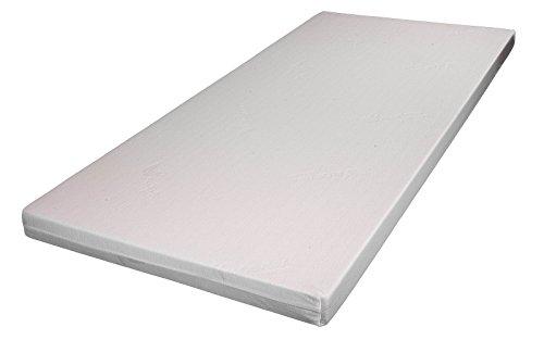H2 Topper Matratzenauflage Kaltschaum RG 45 mit Bezug Kernhöhe 5 cm