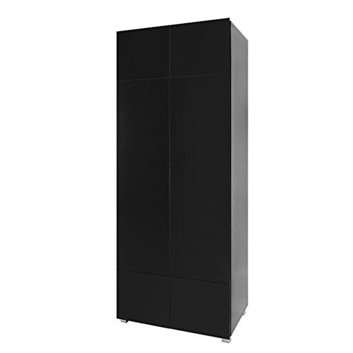 Kleiderschrank Drehtürenschrank Gordia G SZ2D mit Kleiderstange, Grifflosem Öffnen, Modernes Schrank für Wohnzimmer
