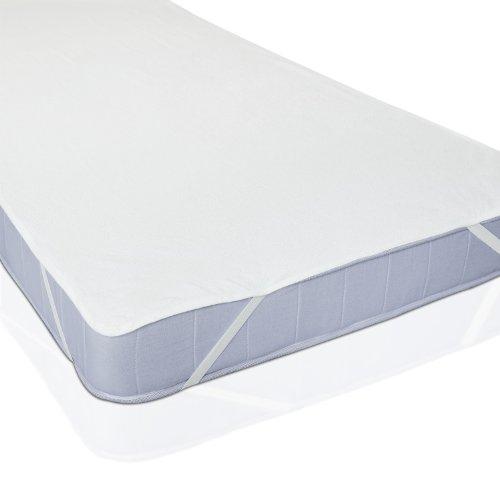 Lumaland® Wasserundurchlässige Matratzenauflage | Matratzenschoner | Wasserdichte Molton Auflage | Atmungsaktiv - Größe ca. 90x200 cm | in verschiedenen Größen erhältlich