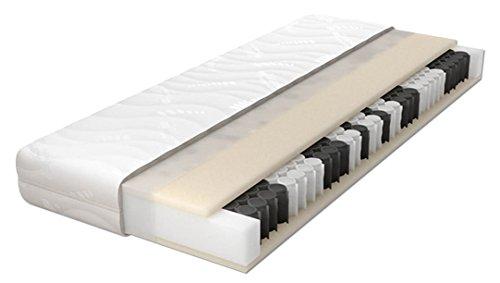 Schlaraffia Sky 200 Taschenfederkernmatratze - 7-Zonen-Aufbau - abnehmbarer, waschbarer Bezug