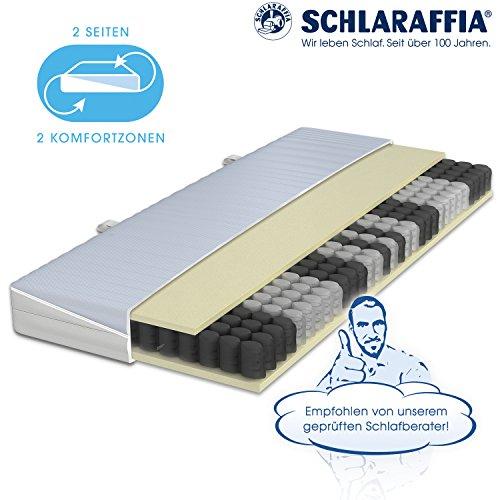 Schlaraffia Taschenfederkern Matratze H2 (100 x 200 cm) - 2-Seiten 2-Komfortzonen (weicher + fester) - Clever 35 TFK - Bezug abnehmbar und waschbar bis 60°