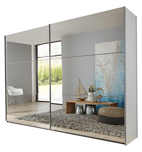 Wimex 974811 Schwebetürenschrank, 270 x 236 x 65 cm, korpus alpinweiß / front spiegel