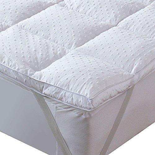 bedecor Matratzenauflage, Ultra Weiche Matratze Anti Rutsch Pad, Classic Box Gesteppte Cover, Daunen Alternative Faser Füllen, Eckspanngummi
