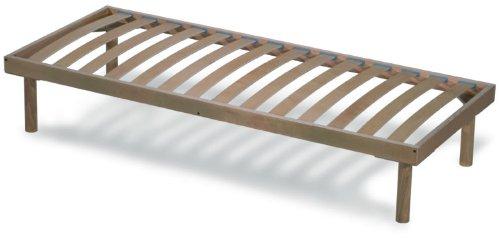 Orthopaedische Holz Lattenrost mit 14 Leisten aus Buche und Holzrahmen H40 cm - 80X190  | Orange
