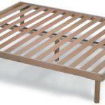 Orthopädische Holz Lattenrost mit 14 Leisten aus Buche und Holzrahmen H40 cm - 160X190 | Orange