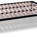 Orthopädische Stahl Lattenrost mit 14 Leisten aus Buche H35 cm - 160X190 | Apple