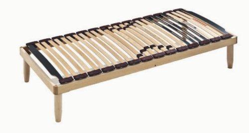 Stabiler Holz Lattenrost mit 28 Federholzleisten aus Buche und orthopädische Holzrahmen H40 cm -120X190 | Lemon