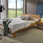 SAM® Massiv-Holzbett Elisa in Kernbuche natur geölt, Bett mit geschlossenem Kopfteil, natürliche Maserung, massive widerstandsfähige Oberfläche in zeitlosem Naturton, 100 x 200 cm