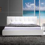 SAM® Polsterbett Zarah 160 x 200 cm weiß, Bett mit chrom-farbenen Füßen, modernes Design, Kopfteil abgesteppt, als Wasserbett verwendbar