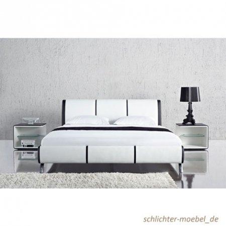 """Polsterbett """"Fun"""" schwarz /weiss (180 x 200 cm)"""