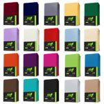 AR Line JERSEY Spannbettlaken aus 100% Baumwolle 140 x 200-160 x 200 cm, in Farbe: Anthrazit-Grau