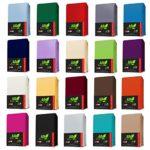 AR Line TOPPER Jersey Spannbettlaken 90x190-100x200 cm aus 100% Baumwolle, in Farbe: Anthrazit-Grau